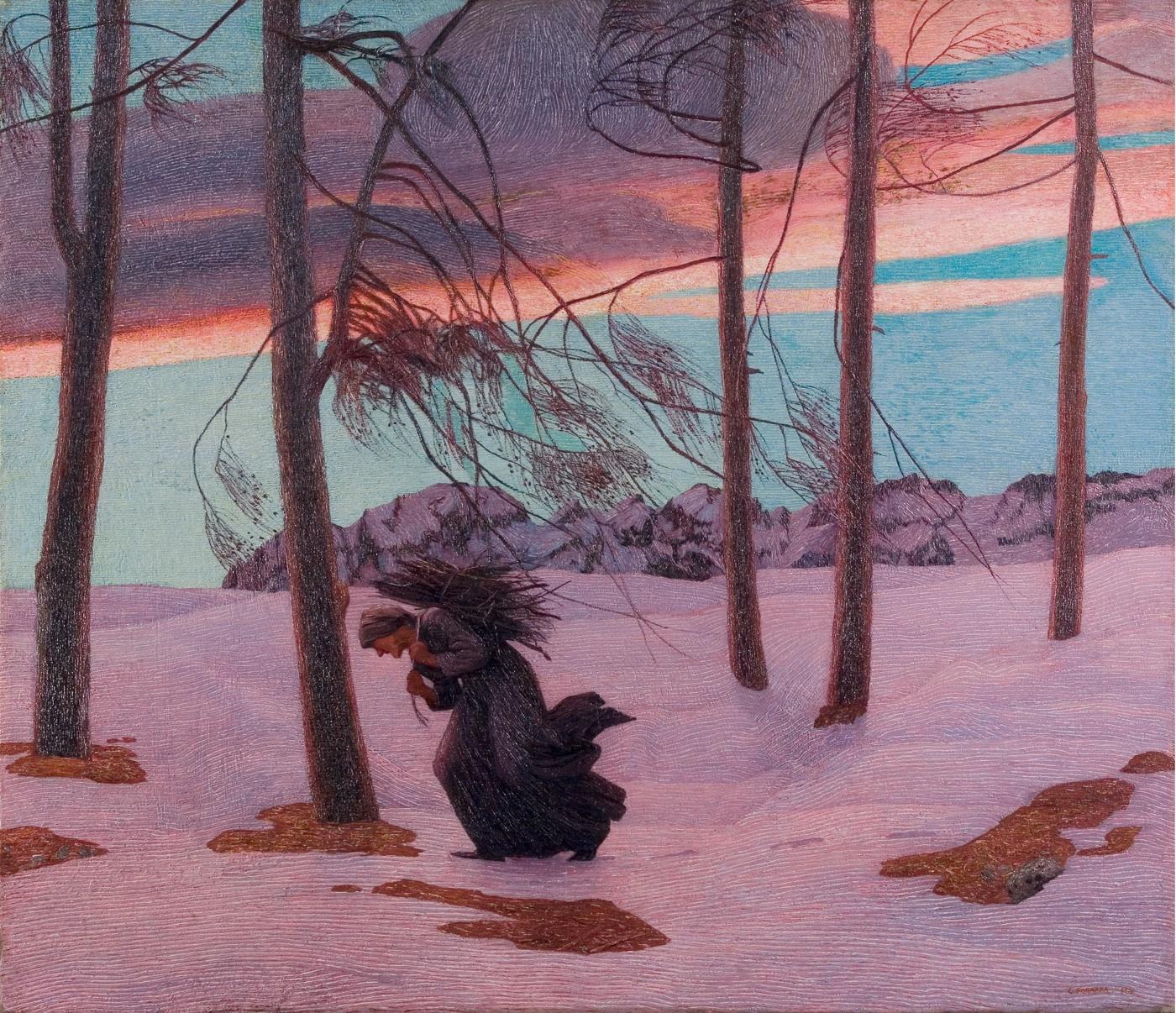Carlo Fornara, L'Aquilone, olio su tela 135 x 154 cm