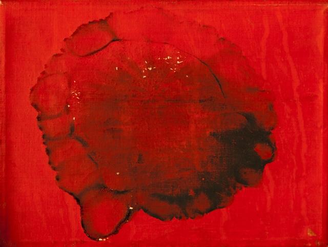 Otto Piene, Fire Flower for Nanda 1964-65 - tele bruciata e acrilico cm18x24x2