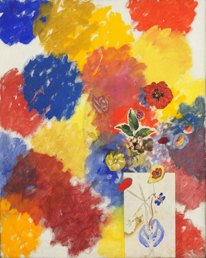 TANCREDI PARMEGGIANI UNTITLED (FLOWERS 101% PAINTED BY ME AND OTHERS NO. 5) (FIORI DIPINTI DA ME E DA ALTRI AL 101% N. 5) 1962 Peggy Guggenheim Venezia Retrospettiva