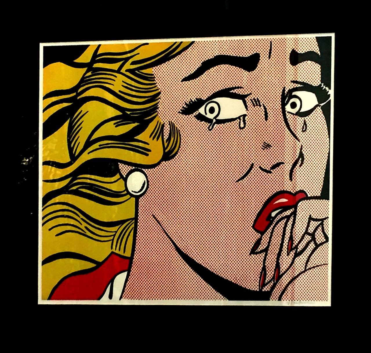 Roy Linchtenstein, Crying Girl, litografia su carta firmata, 60x45 cm