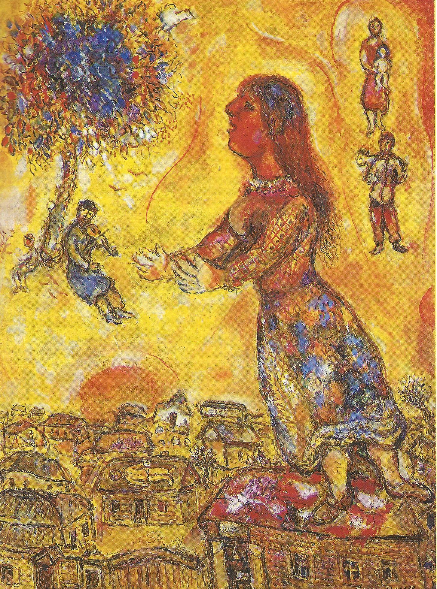 Marc Chagall, Arbre et maisons