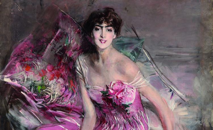 Giovanni Boldini, La signora in rosa (ritratto di Olivia de Subercaseaux Concha), 1916