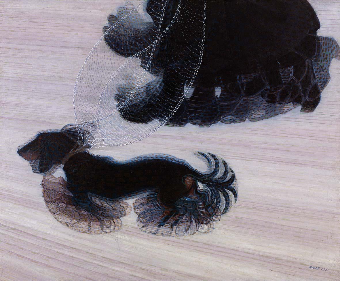 GiacomoBalla Dinamismo di un Cane al Guinzaglio, 1912 Fondazione Ferrero Alba