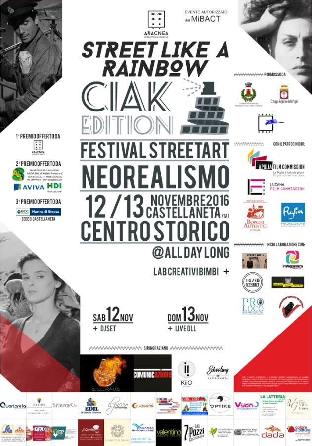 "Tra cinema e arte urbana. Torna il Festival ""Street like a Rainbow"""