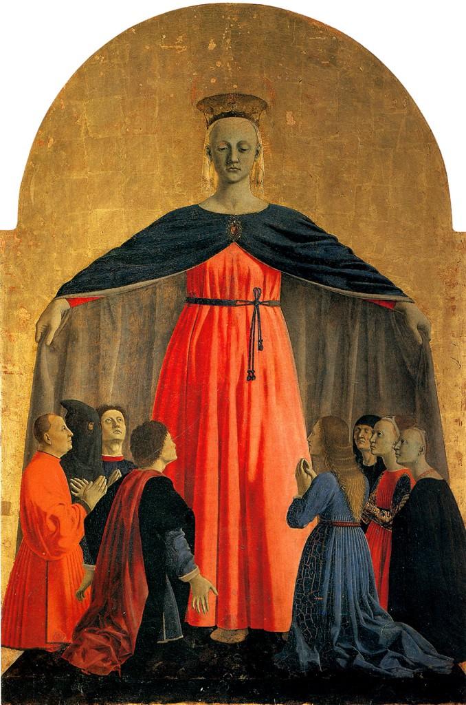 piero della francesca madonna della misericordia milano