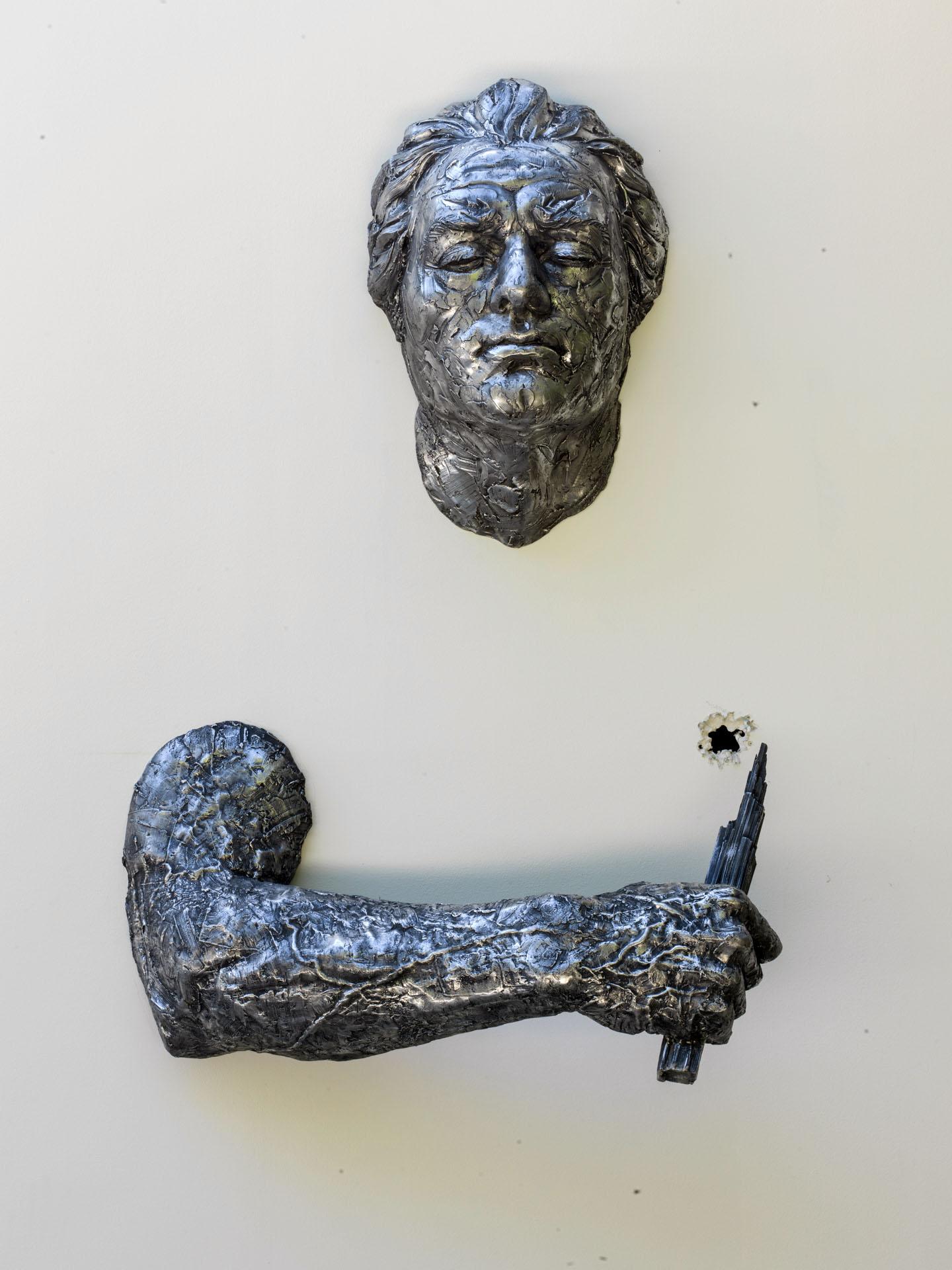 Matteo Pugliese, La Spina, 2010, alluminio, 240 x 135 x 43 cm