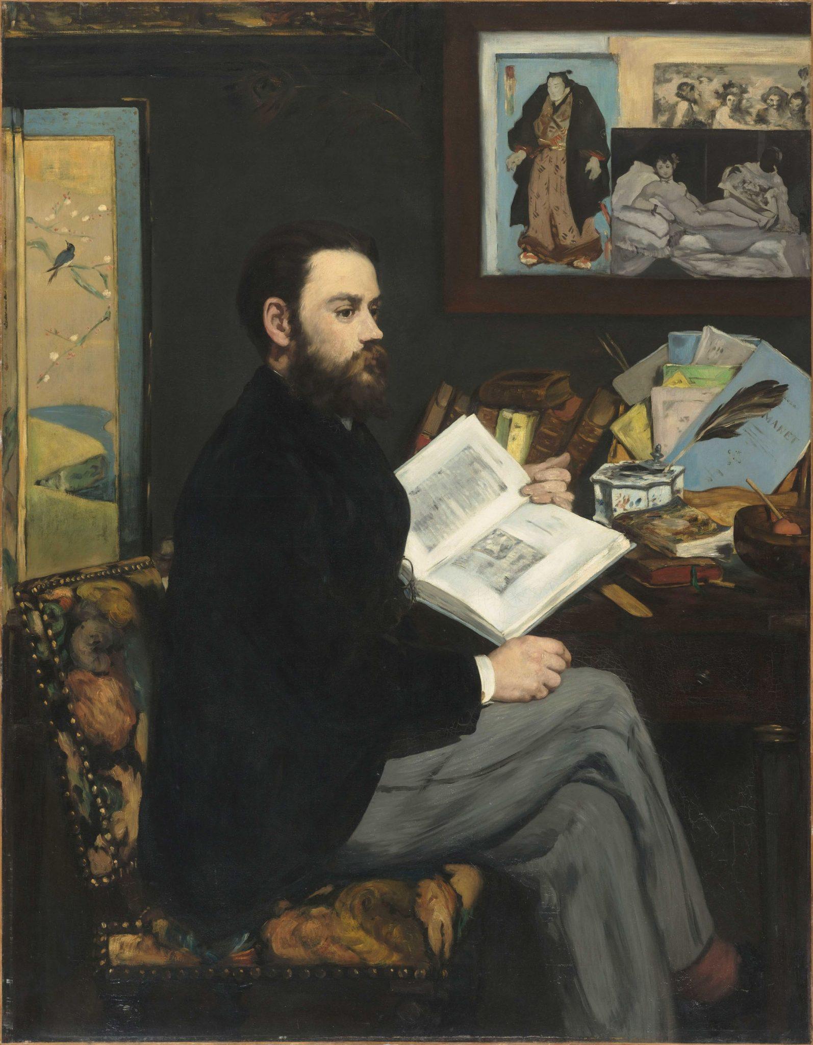 Edouard Manet Ritratto di Émile Zola, 1868 Olio su tela, 146 x 114 cm Parigi, Musée d'Orsay