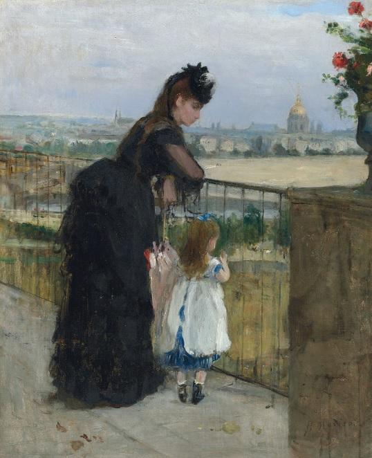 Berthe Morisot Femme et enfant au balcon 1872 Christie's