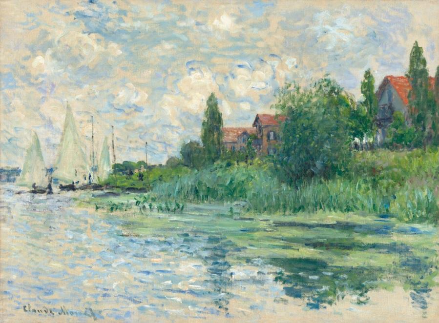 Claude Monet Les Bords de la Seine au Petit-Gennevilliers 1874 Lambrecht