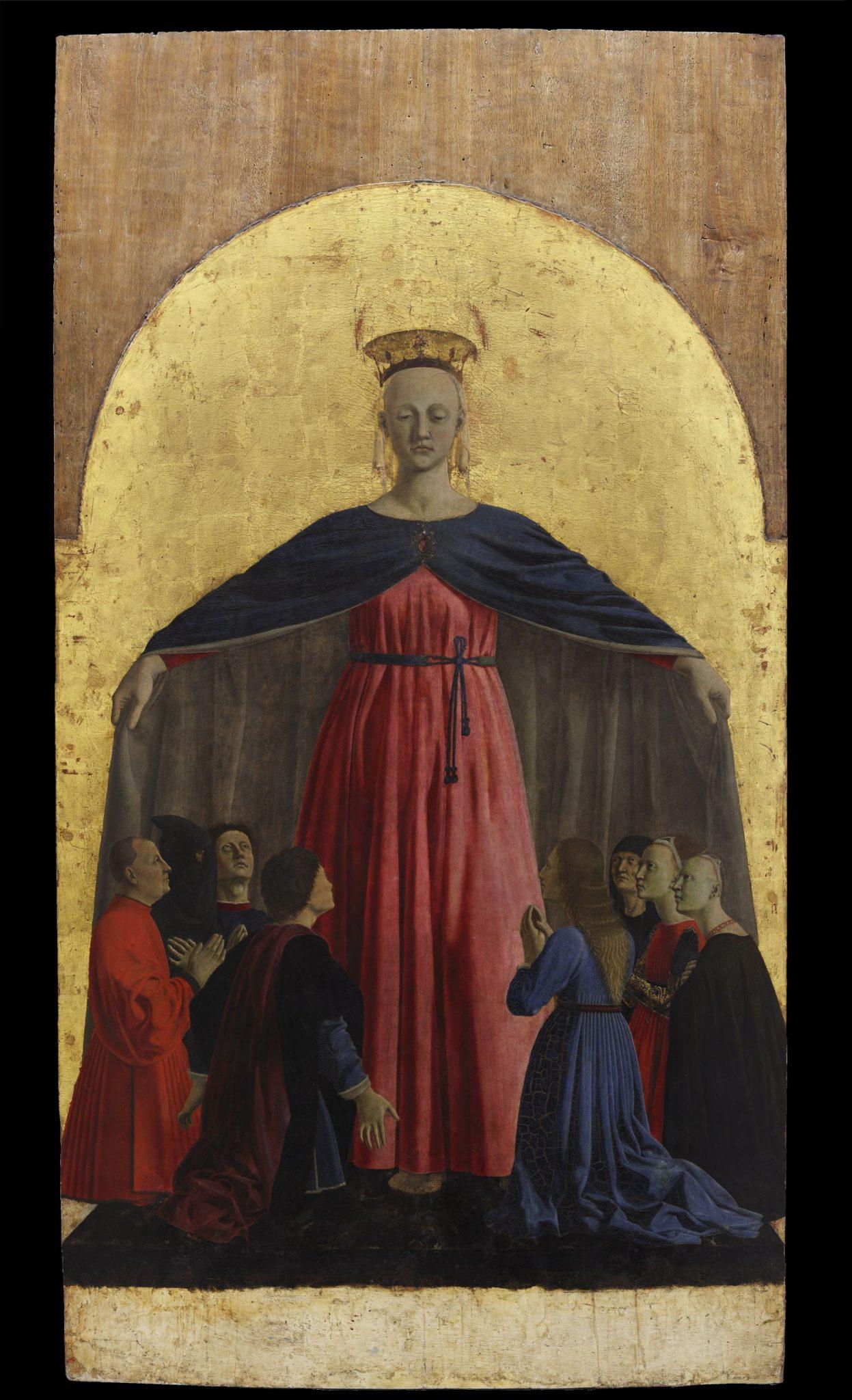Piero della Francesca, Madonna della misericordia pannello centrale