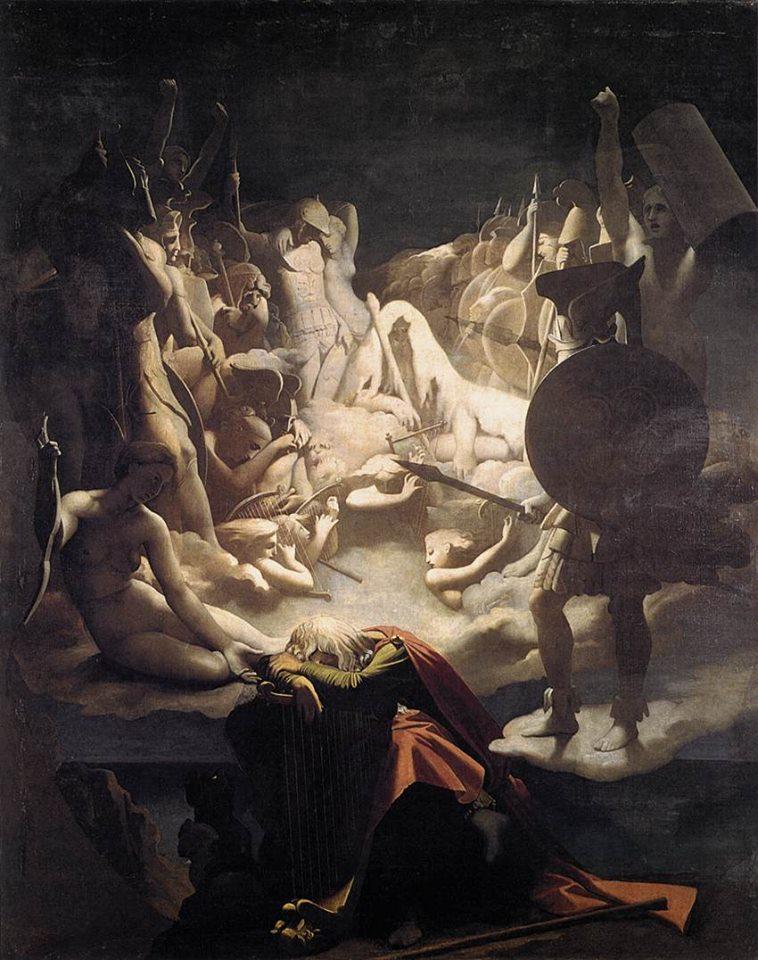 Jean Auguste DominiqueIngres, Il sogno di Ossian, 1813