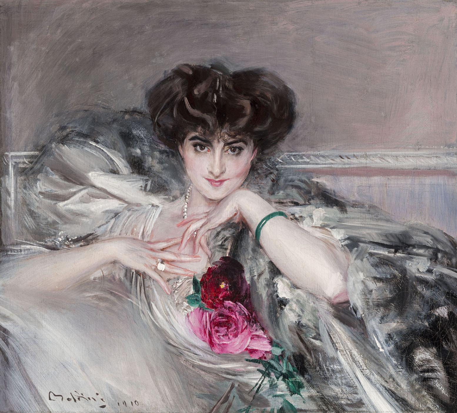 Giovanni Boldini, Ritratto della principessa Radzwill, olio su tela, 82x91 cm, Collezione privata