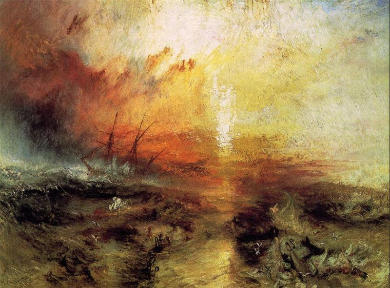 W. Turner, La nave di schiavi, 1840