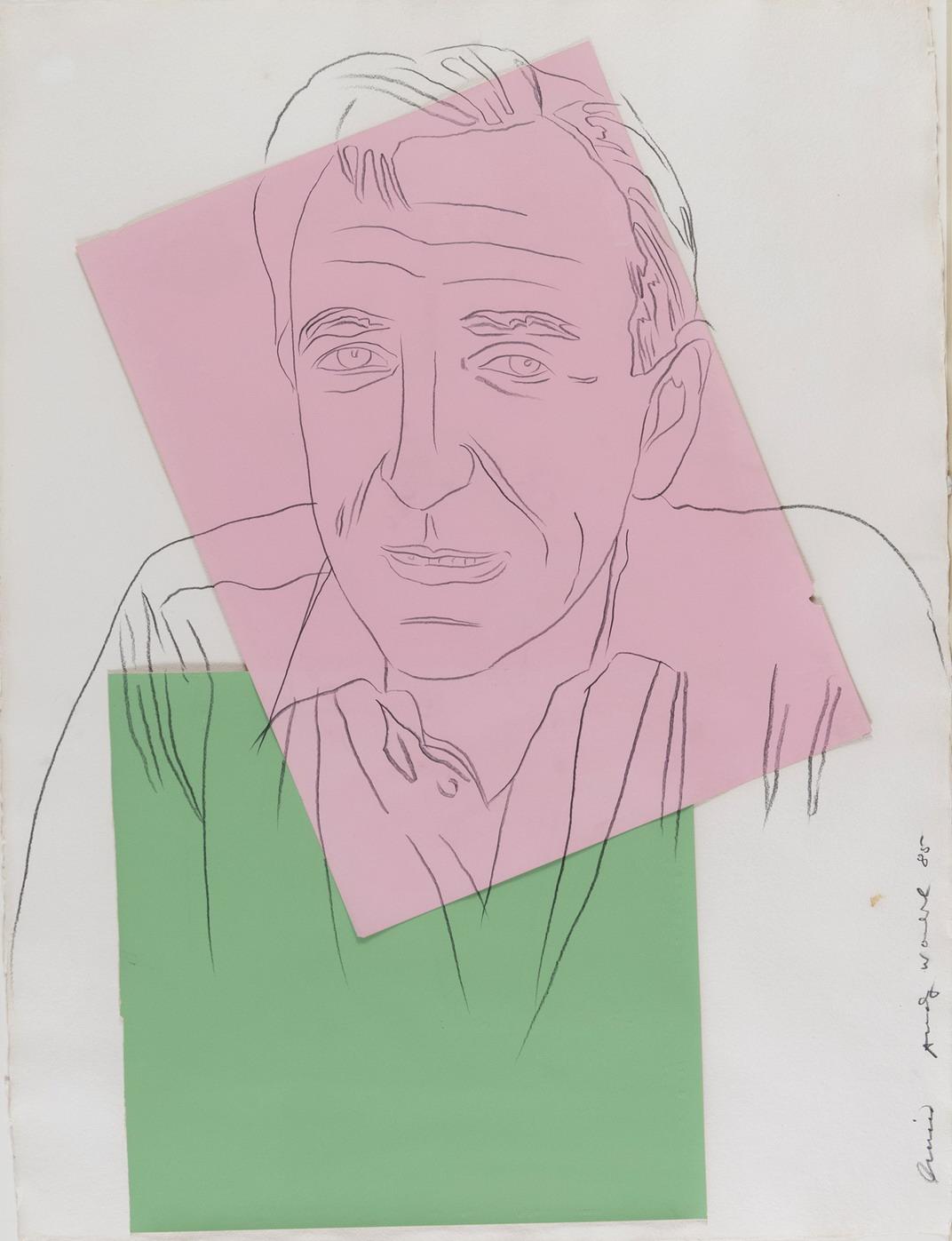 ANDY WARHOL ritratto Lucio Amelio