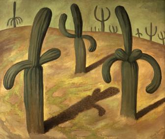 Diego Rivera - Paesaggio con cactus 1931 © Banco de México Diego Rivera Frida Kahlo Museums Trust México DF by SIAE 2016