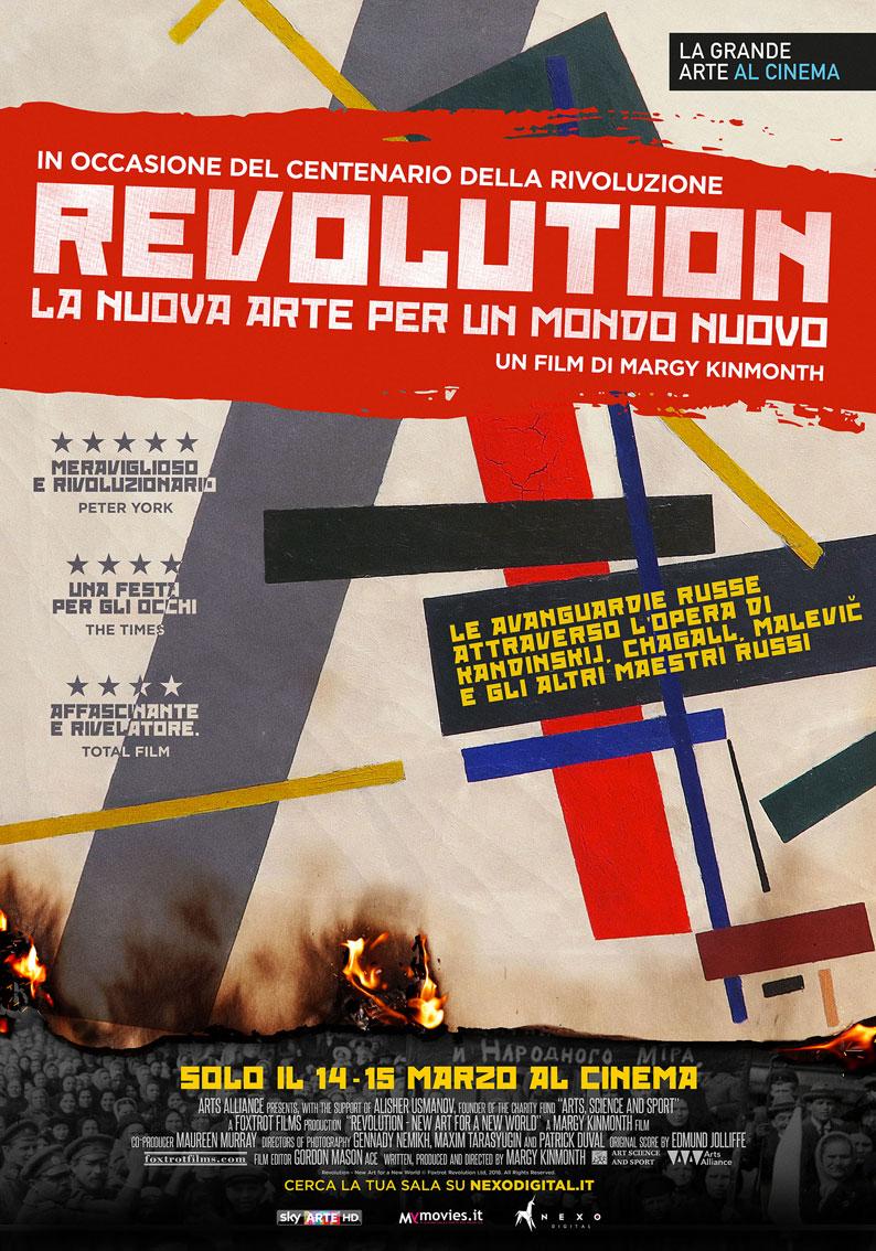 KANDINSKIJ, CHAGALL, MALEVIC AL CINEMA con il docu film REVOLUTION LA NUOVA ARTE PER UN MONDO NUOVO