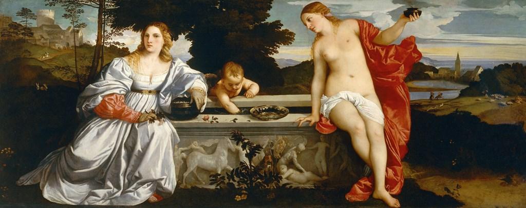 L'Amor Sacro e Amor Profano di Tiziano Galleria Borghese