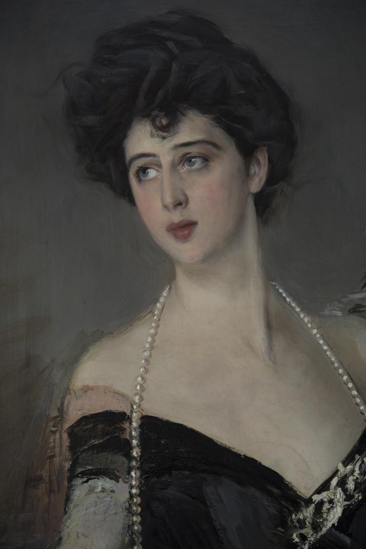 Ritratto di Donna Florio, particolare