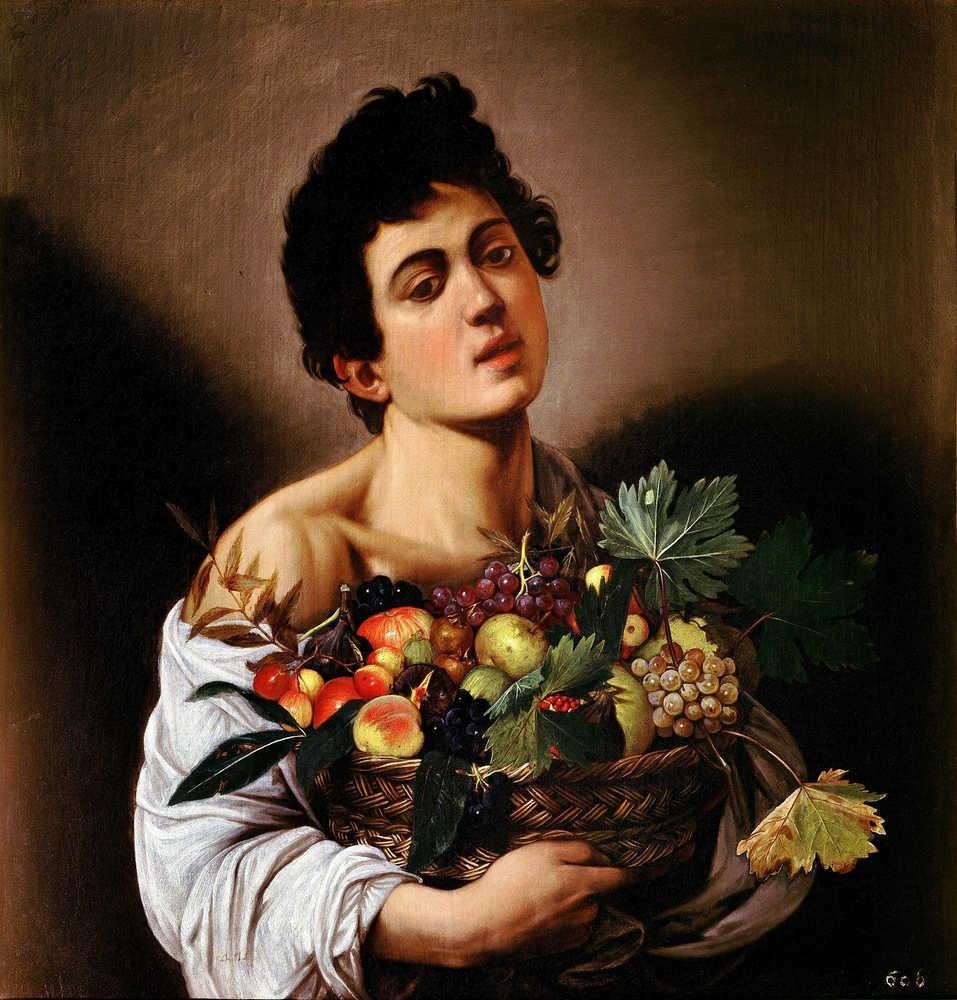 Michelangelo Merisi detto Caravaggio, Ragazzo con canestra di frutta Roma, Galleria Borghese © Mibact - Galleria Borghese