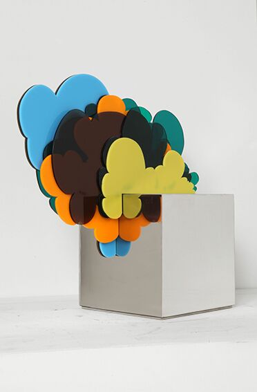 Fausta Squatriti, Cubo con nuvole, 1967 milano mostra nuova galleria corone