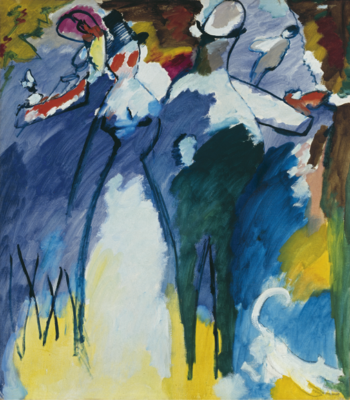 Vassily Kandinsky, Impression Sonntag (Impression Sunday), 1911 Städische Galerie im Lenbachhaus und Kunstbau München Gam Torino Castello di Rivoli