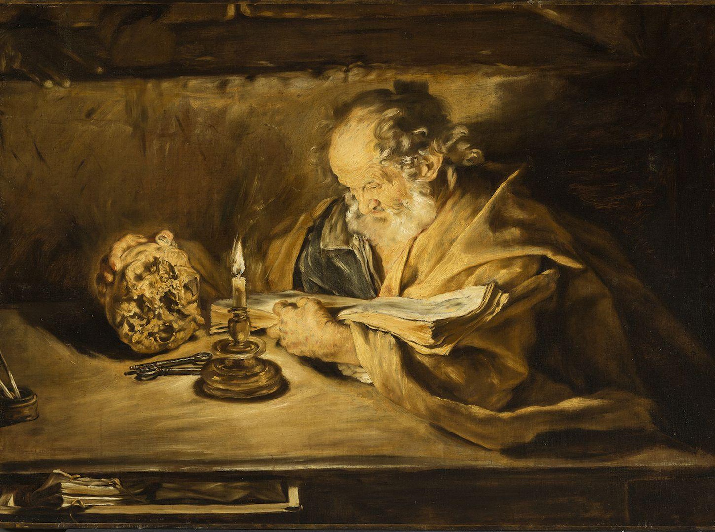 GIOVANNI SERODINE Ascona o Roma 1594/1600 – Roma 1630 SAN PIETRO CHE LEGGE 1628-1630 circa Olio su tela Rancate, Pinacoteca Cantonale Giovanni Züst