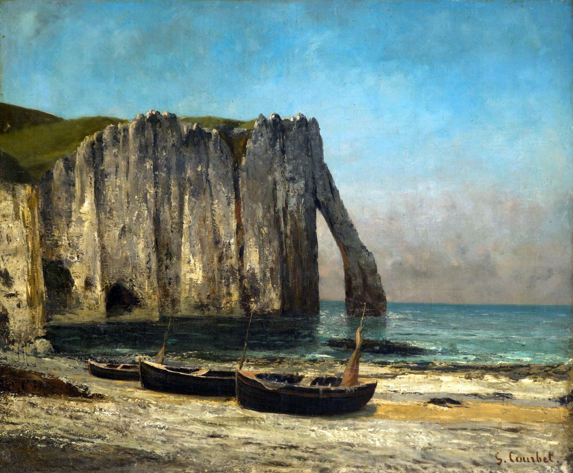 Gustave Courbet La scogliera a Etretat 1869 olio su tela cm 63 x 76