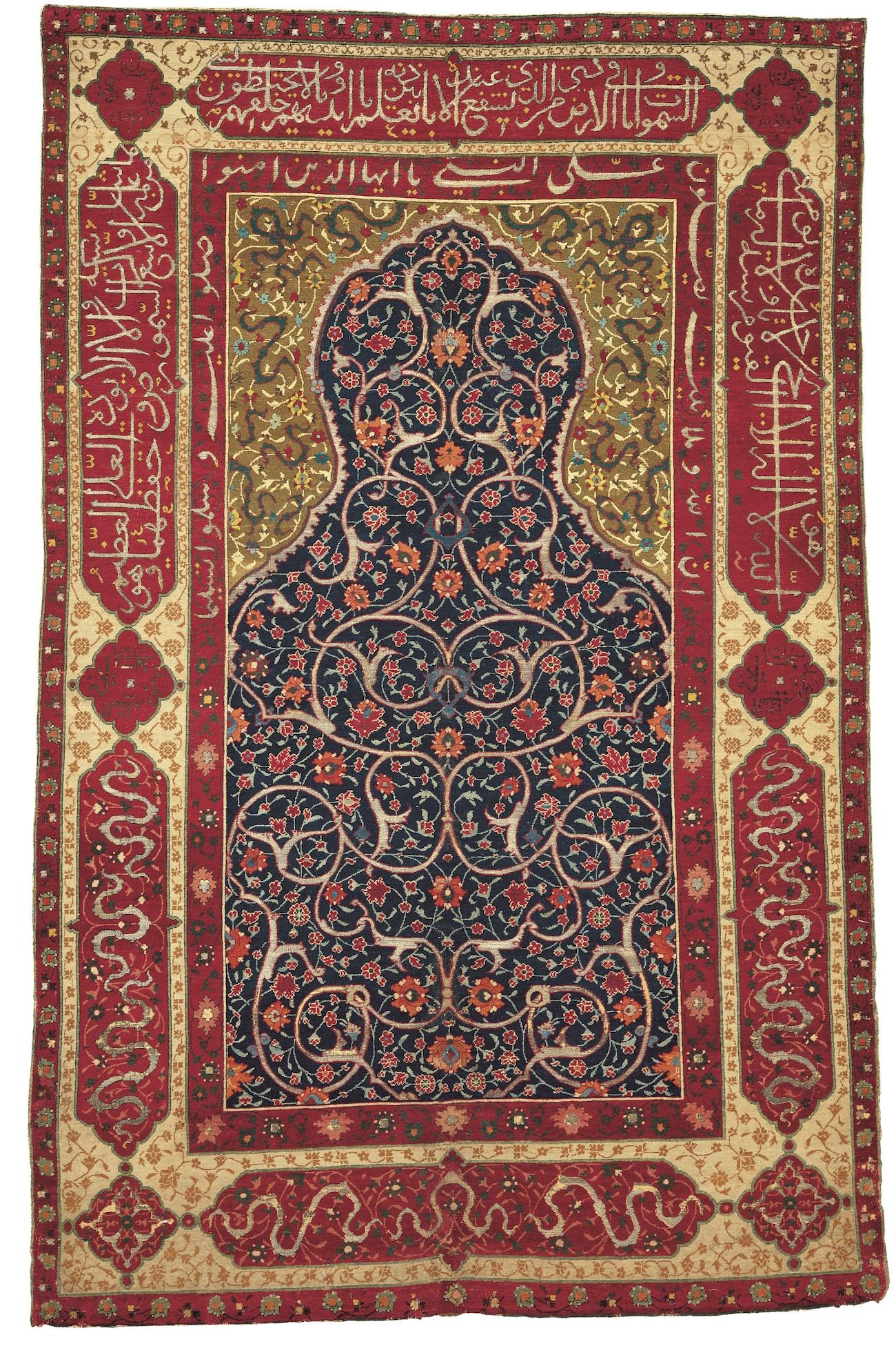 112397 TAPPETO A NICCHIA 'SALTING' Persia centrale XVI secolo, III quarto cm 162 x 104