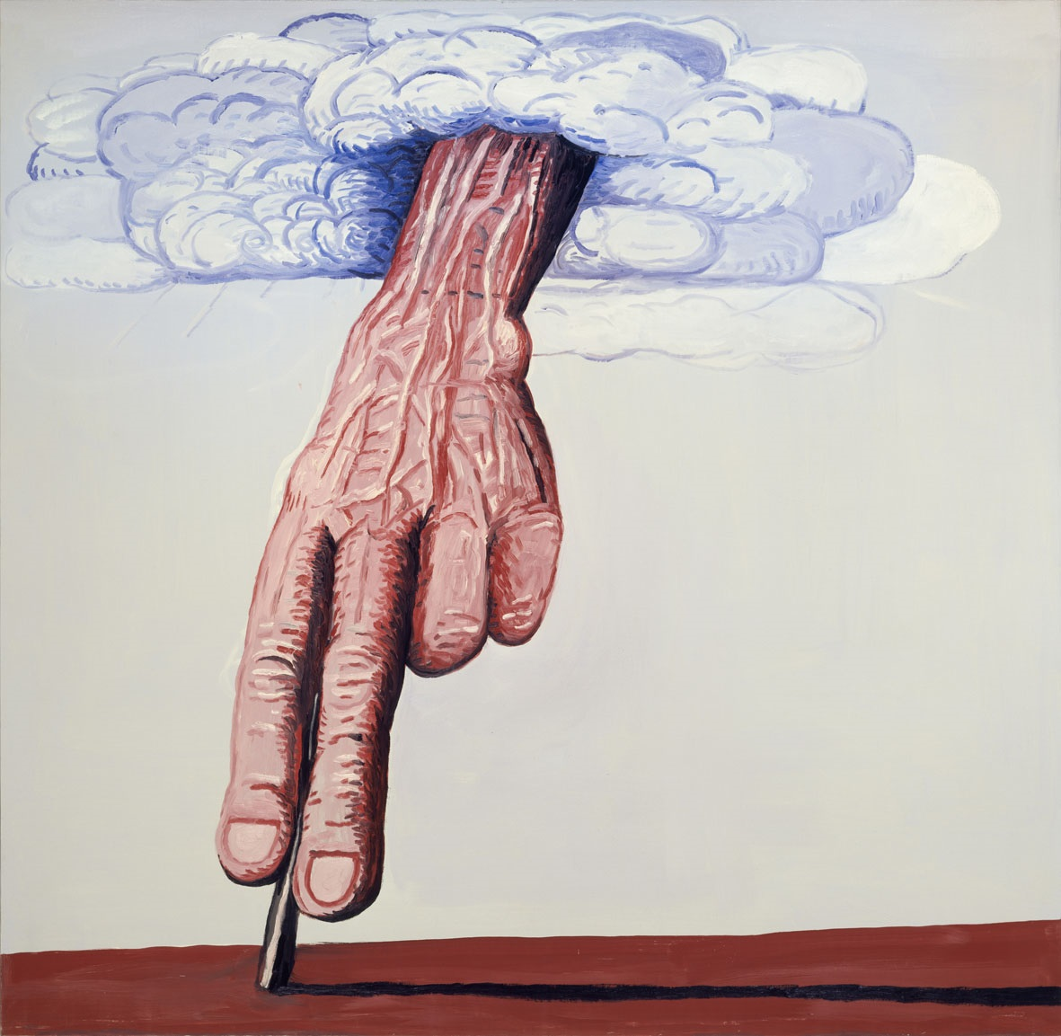 Philip Guston: The Line, 1978, oil on canvas, 71 x 73 1/4 in. Private Collection. © The Estate of Philip Guston. Curtesy Hauser & Wirth
