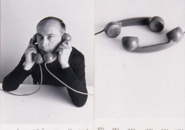 Vincenzo Agnetti, Auto telefonata yes, 1972, dettaglio OSART Gallery Milano