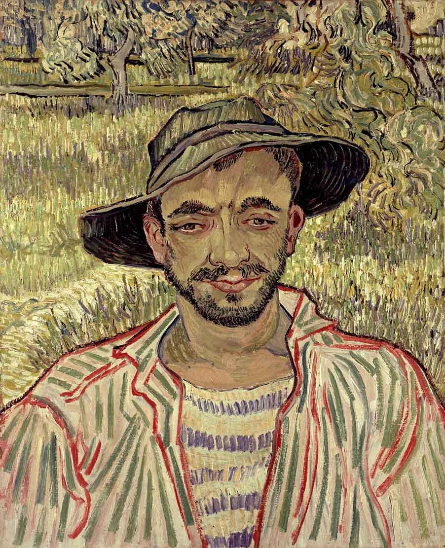 Vincent Van Gogh Il giardiniere, 1889 - Olio su tela © Galleria Nazionale d'Arte Moderna e Contemporanea di Roma