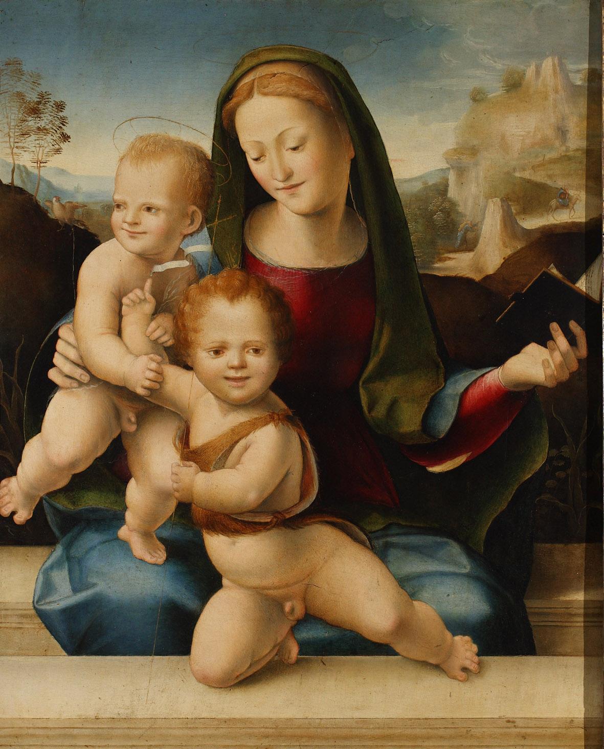 Domenico Beccafumi - Madonna col Bambino e San Giovannino 1511