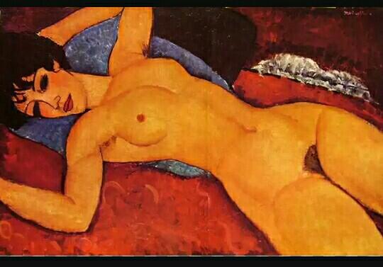 Amedeo Modigliani, Nudo rosso, 1917