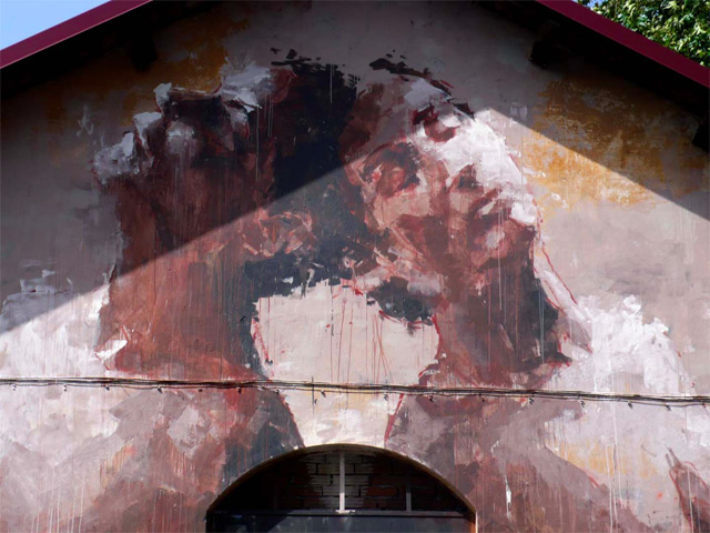 Borondo murales a Roma