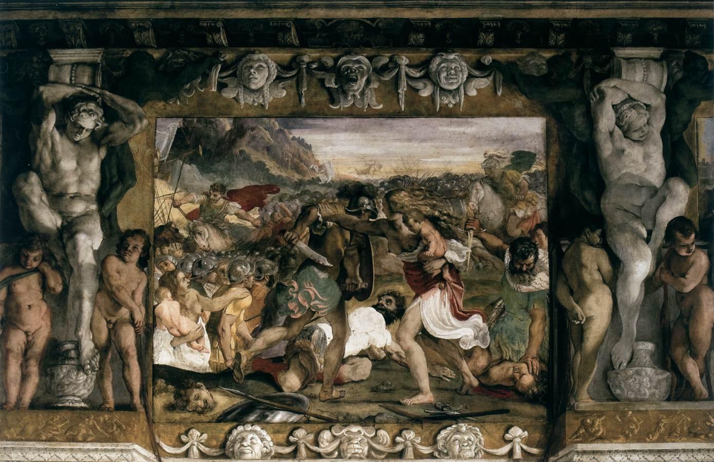 Carracci, Lotta tra Romani e Sabini, Palazzo Magnani, Bologna