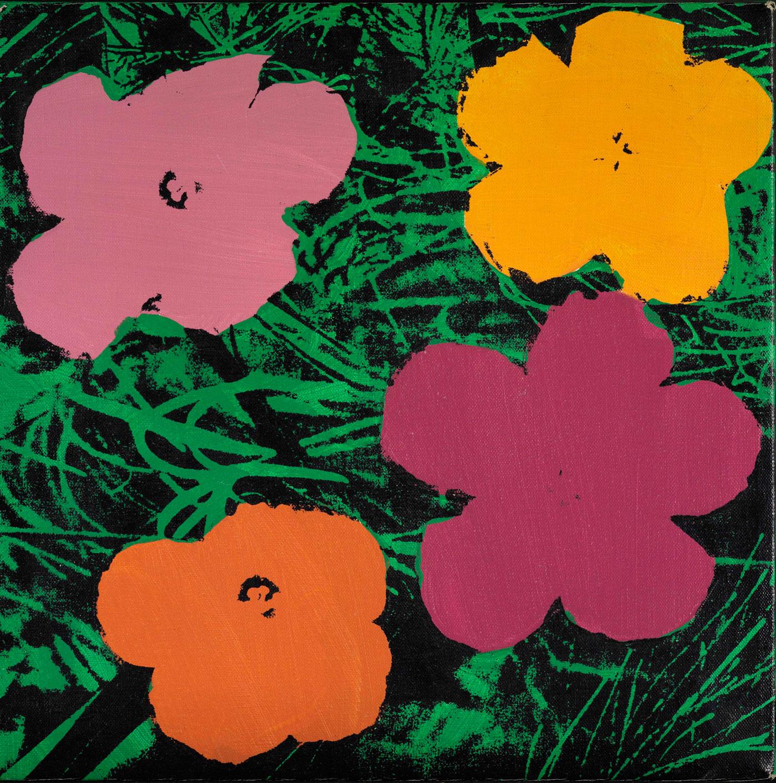 Elaine Sturtevant, Warhol Flowers, 1969-70