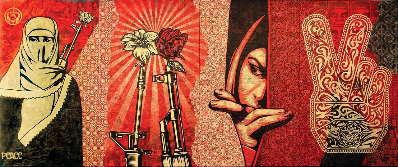 Obey Shepard Fairey_Obey Middle East Mural.