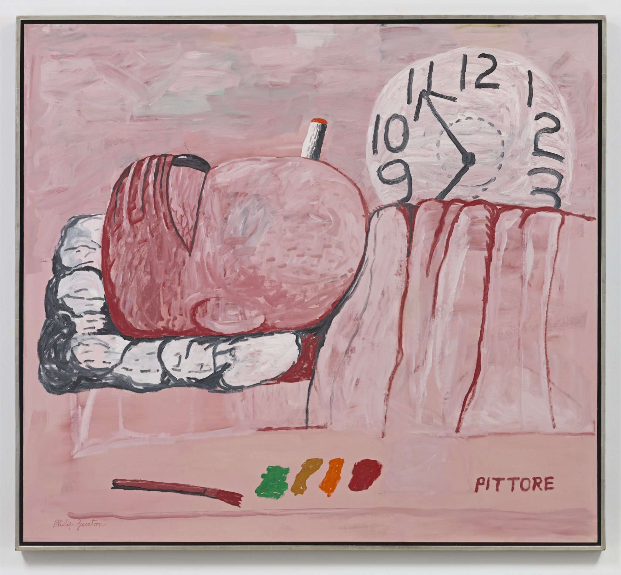 Philip Guston Pittore 1973 © The Estate of Philip Guston Private Collection Photo: Genevieve Hanson