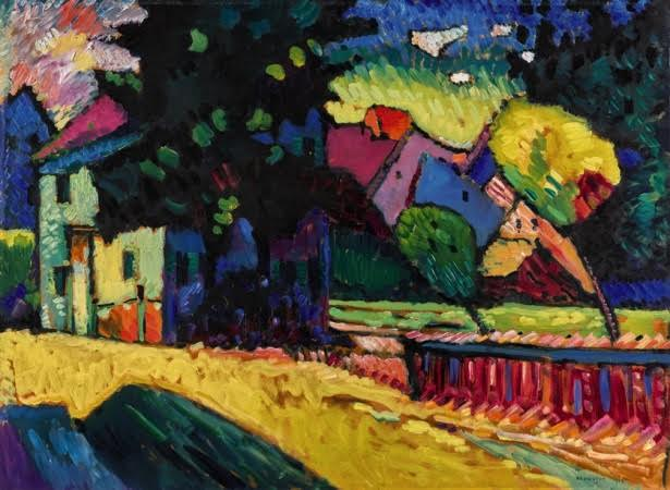 Wassily Kandinsky - Murnau - Landschaft mit grünem Haus