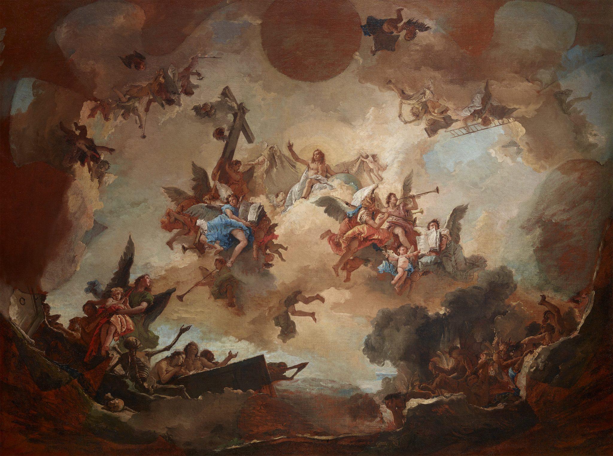 Giambattista Tiepolo, Il Giudizio finale, Hermitage di San Pietroburgo