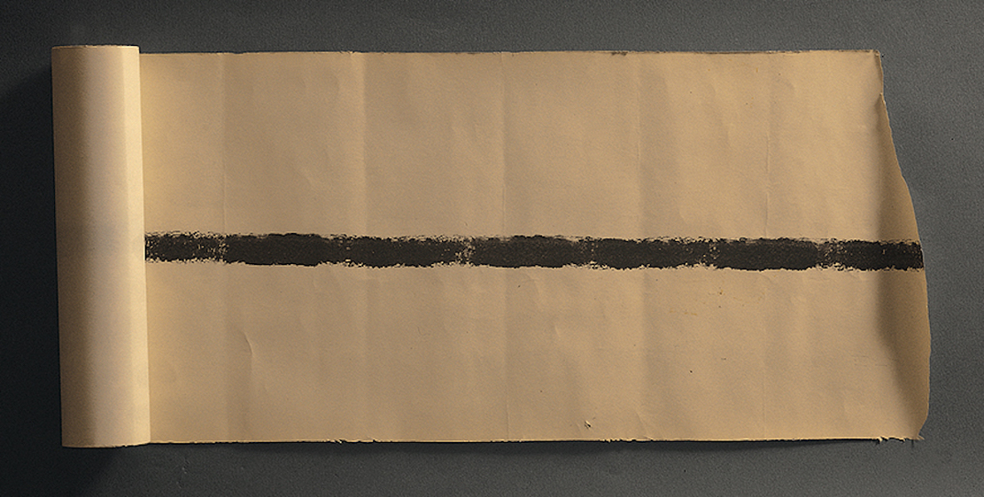 P. Manzoni, Linea (frammento), circa 1959, ink on paper, 20x77 cm