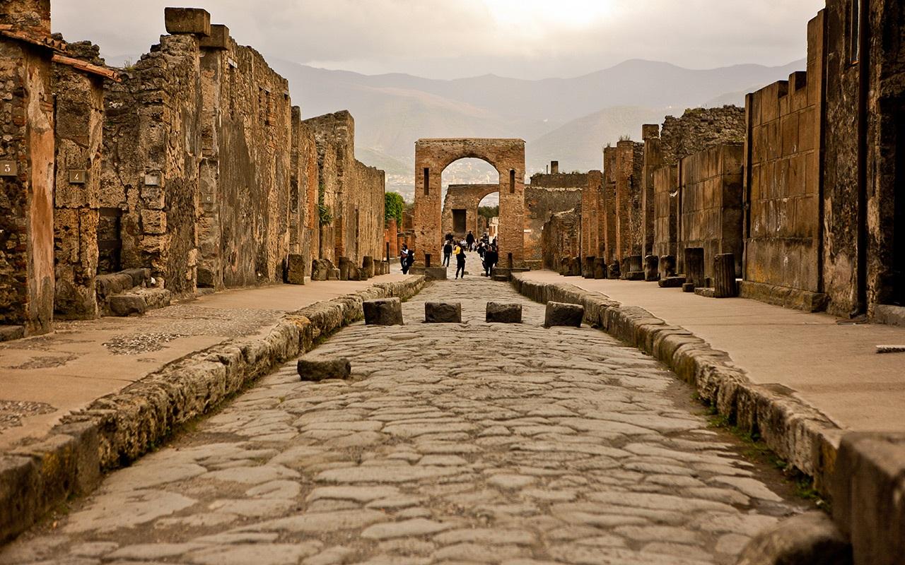 Una veduta di Pompei
