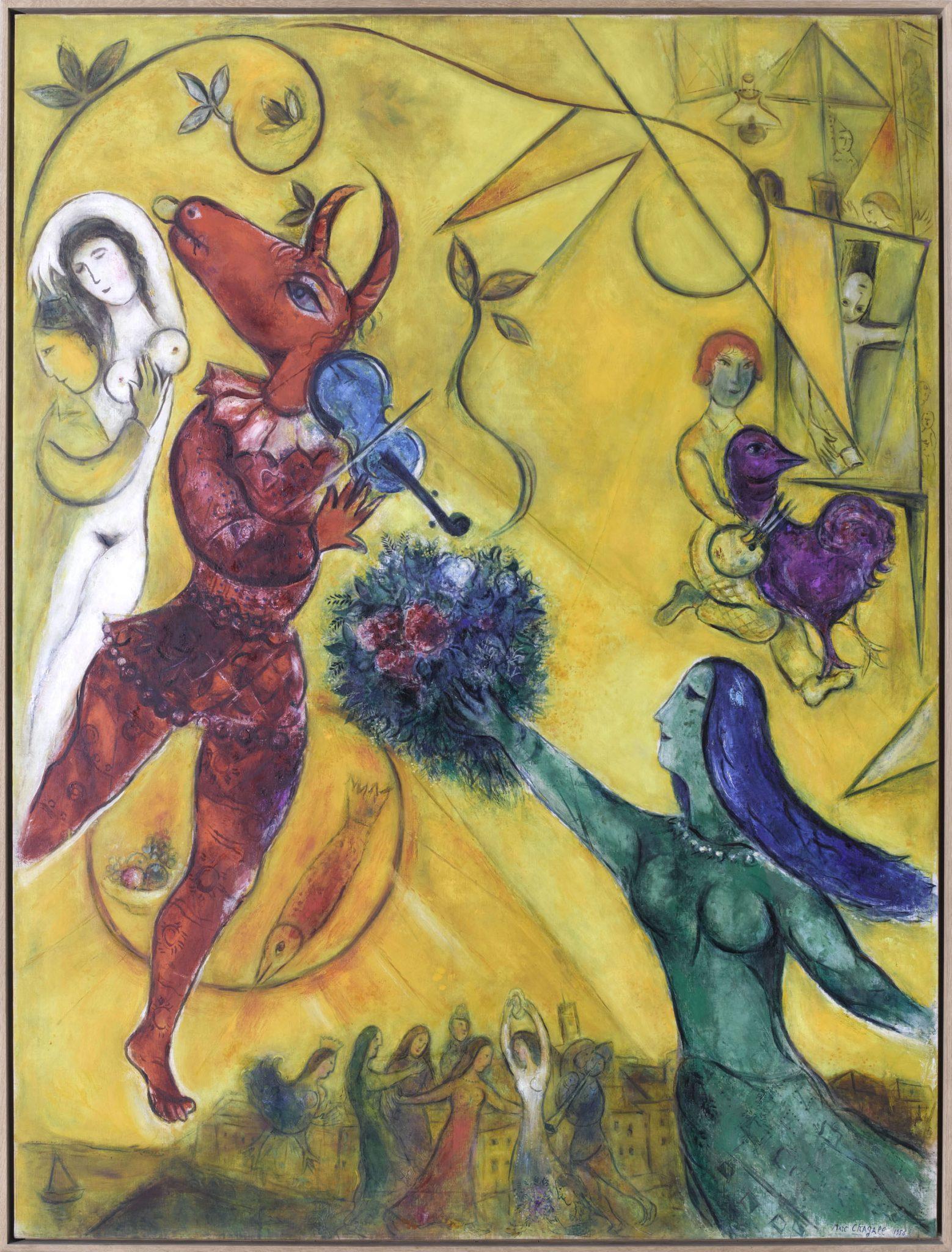 Marc Chagall La danza, 1950 Olio su tela Nice, Musée national Marc Chagall. Photo © RMN-Grand Palais (musée Marc Chagall) / Gérard Blot © Chagall ®, by SIAE 2017