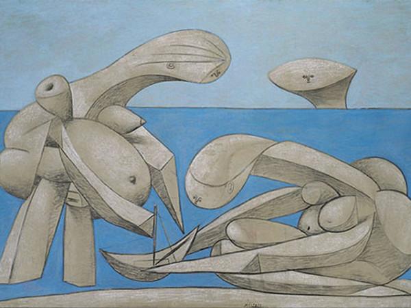 """Picasso, Sulla spiaggia. L'opera """"ostinatamente mediterranea"""" di Pablo, a Venezia"""