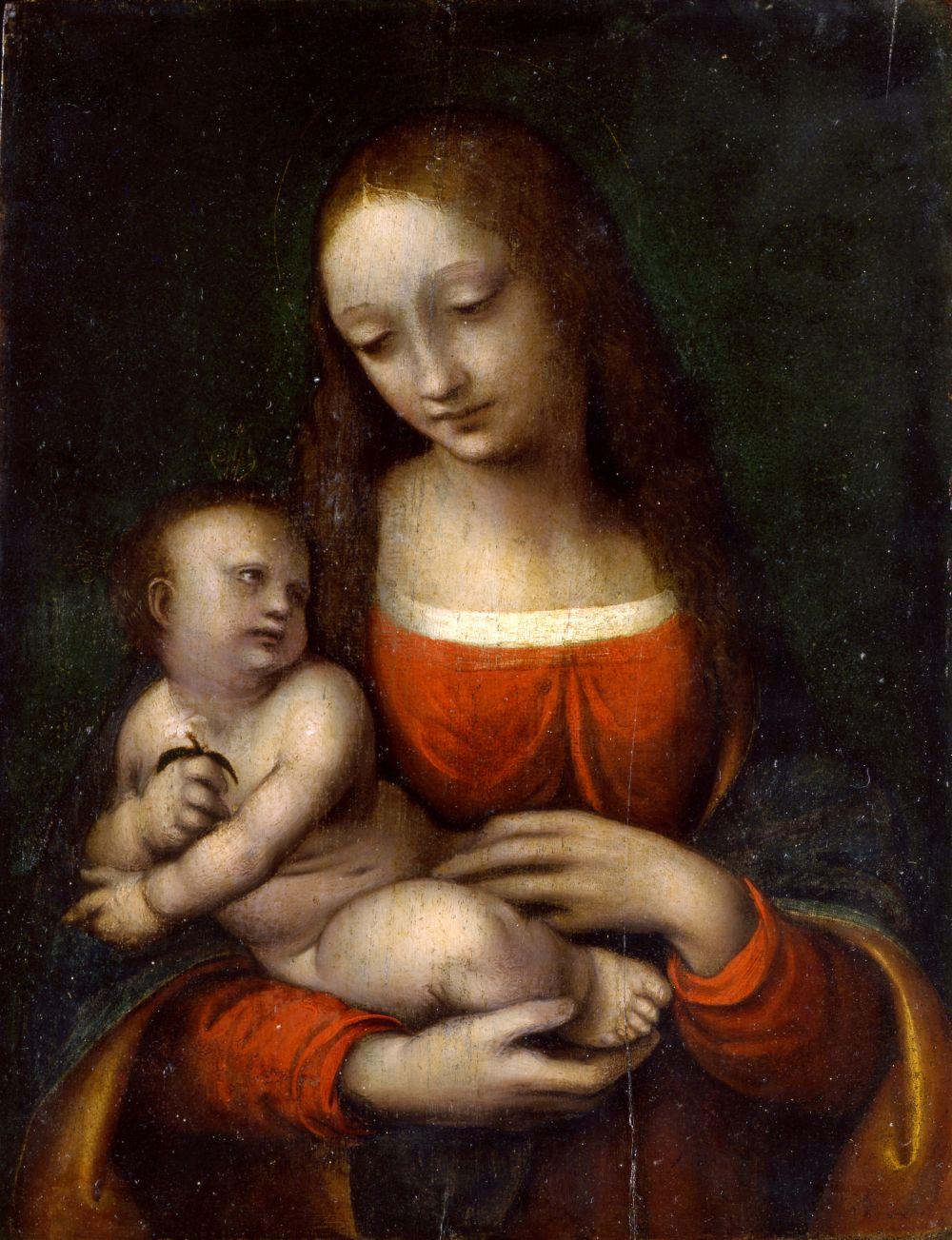 Giovanni Pietro Rizzoli detto Giampietrino - Madonna con il Bambino (al recto) 1515
