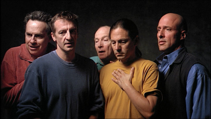 Bill Viola, The Quintet of the Silent, 2000, Color video on flat panel display mounted on wall, 28 1/2 x 47 1/2 x 4 in. (72.4 x 120.7 x 10.2 cm), 16:28 minutes, Performers: Chris Grove, David Hernandez, John Malpede, Dan Gerrity, Tom Fitzpatrick