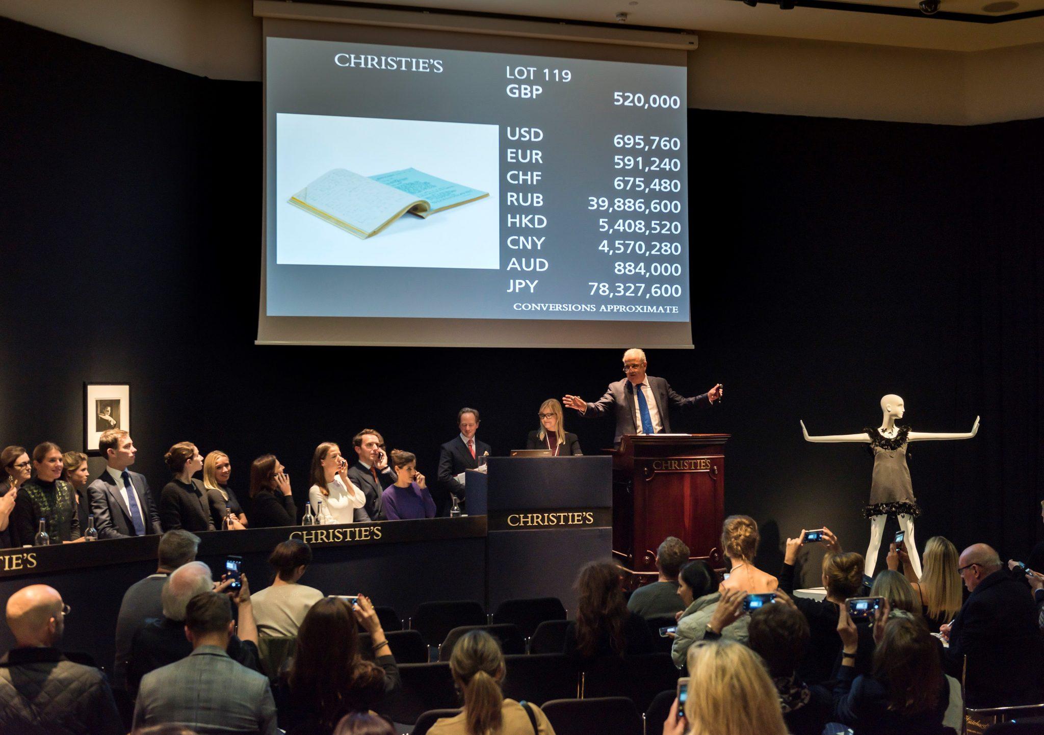 Copione di Colazione da Tiffany a £632,750: successo per l'asta di Audrey Hepburn da Christie's