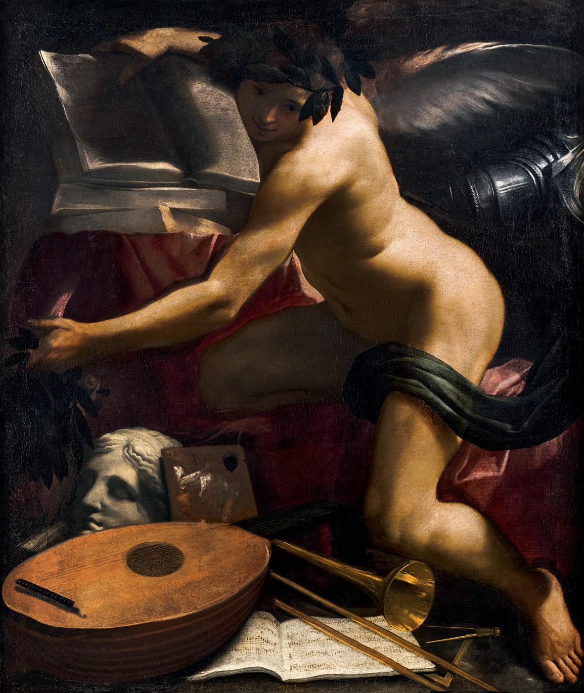Carlo Bononi: Genio delle Arti, c. 1620, Olio su tela, cm 120,5 x 101. Collezione Lauro
