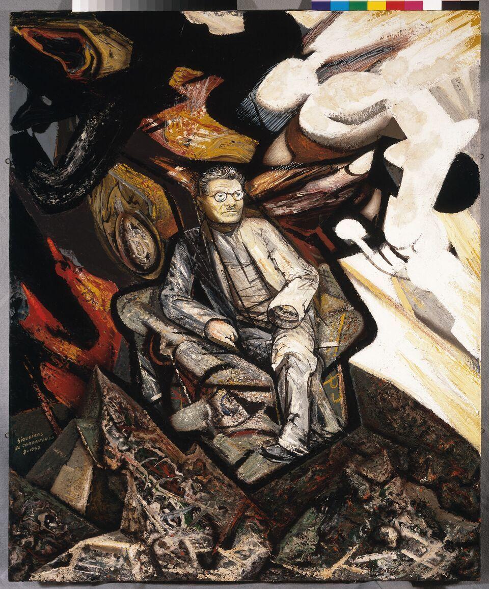 David Alfaro Siqueiros Retrato de José Clemente Orozco, 1947 Piroxilina sobre madera comprimida Obra 122 x 100.3 cm Marco 158.5 x 136.5 x 6 cm Museo de Arte Carrillo Gil