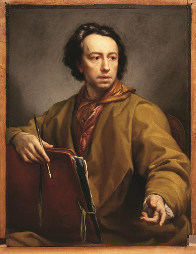Anton Raphael Mengs - Autoritratto con cartella da disegno e stilo 1773 Firenze, Galleria degli Uffizi